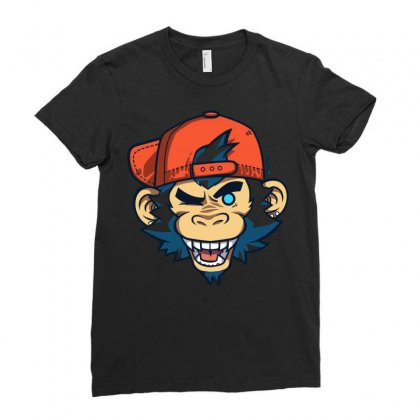 Mankeeboi Wink Ladies Fitted T-shirt Designed By Arsyad