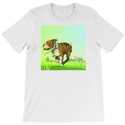 Bulldog Illustration Copy 03 T-shirt Designed By Ng'asike