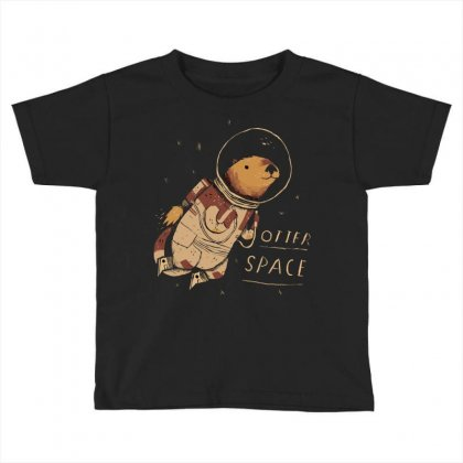 Otter Space Toddler T-shirt Designed By Arsyad