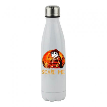 Halloween Freddy Jack Skellington Normal People Scare Me Stainless Steel Water Bottle Designed By Meganphoebe
