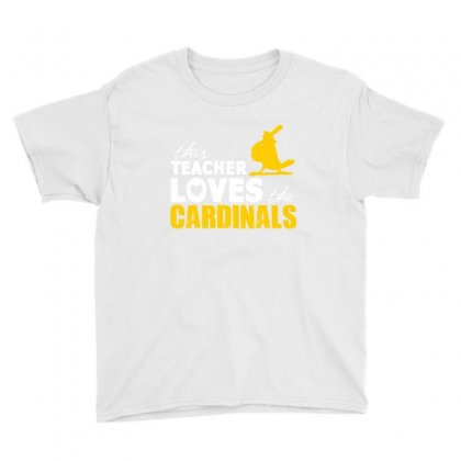 This Teacher Loves The Cardinals Teacher Squad Shirt - Youth Tee Designed By Cuser2324