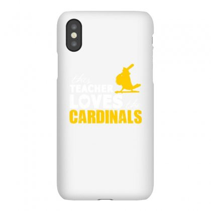 This Teacher Loves The Cardinals Teacher Squad Shirt - Iphonex Case Designed By Cuser2324