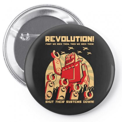 Robot Revolution Pin-back Button Designed By Arsyad