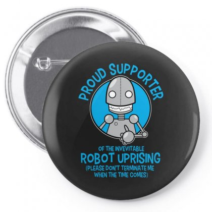 Robot Uprising Pin-back Button Designed By Arsyad