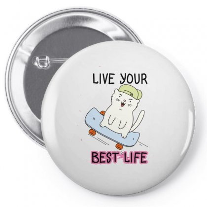 Live Your Best Life Pin-back Button Designed By Wizarts