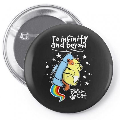 Rocket Cat Pin-back Button Designed By Arsyad