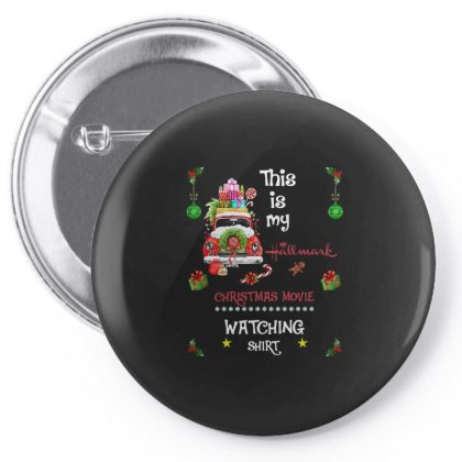 This Is My Hallmark Christmas Movie Watching Shirt Pin-back Button Designed By Kakashop
