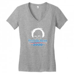 feel the bern 2020 shirt bernie sanders us president vote elections Women's V-Neck T-Shirt | Artistshot