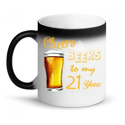 Cheers And Beers To  My 21 Years Magic Mug Designed By Teresabrador