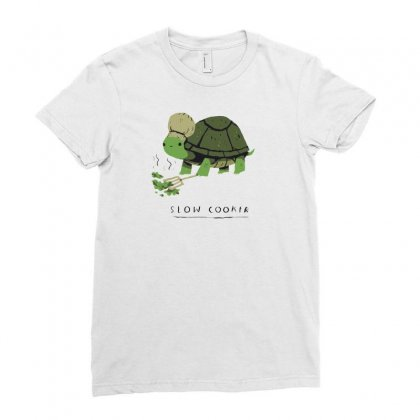 Slow Cooker Turtle Ladies Fitted T-shirt Designed By Arsyad