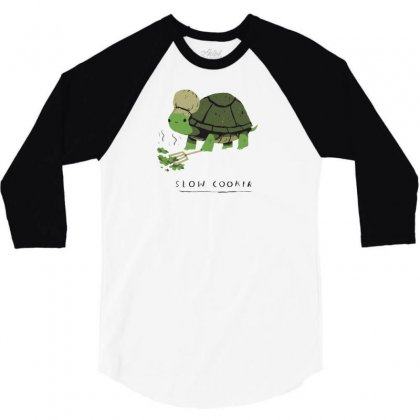 Slow Cooker Turtle 3/4 Sleeve Shirt Designed By Arsyad