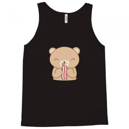 Smoking Bacon Loving Kawaii Bear Tank Top Designed By Arsyad
