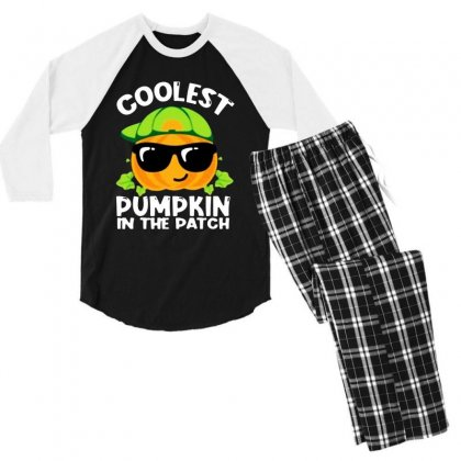 Coolest Halloween In The Patch Men's 3/4 Sleeve Pajama Set Designed By Meganphoebe