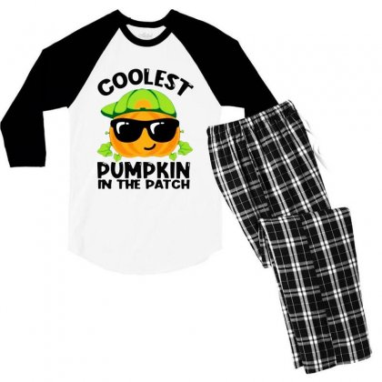 Awesome Coolest Halloween In The Patch Men's 3/4 Sleeve Pajama Set Designed By Meganphoebe