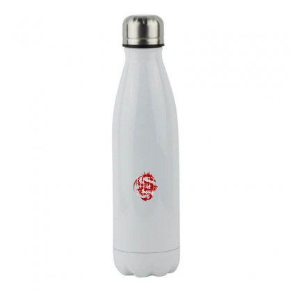 Bend The Knee Mother Of Dragons   White Text Stainless Steel Water Bottle Designed By Meganphoebe