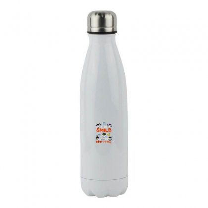 Your Smile Looks Boo Ti Ful Halloween Stainless Steel Water Bottle Designed By Meganphoebe