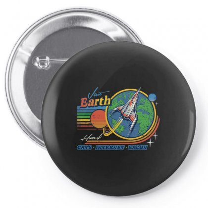 Visit Earth Pin-back Button Designed By Arsyad