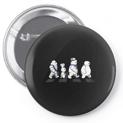 White Puffy Road Pin-back Button Designed By Arsyad