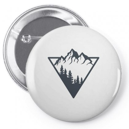 Mountain Pin-back Button Designed By Bloodline