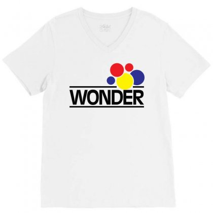 Wonder Bread V-neck Tee Designed By Artwoman