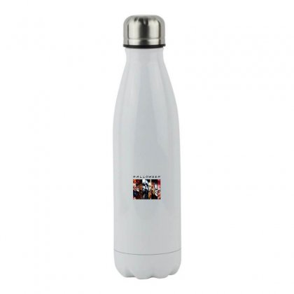Halloween Horror Characters Stainless Steel Water Bottle Designed By Meganphoebe