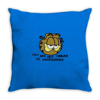 You Are Not Immune To Propaganda Garfield Throw Pillow Designed By Artwoman
