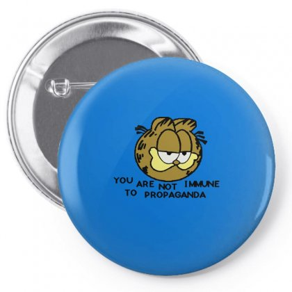 You Are Not Immune To Propaganda Garfield Pin-back Button Designed By Artwoman