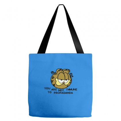 You Are Not Immune To Propaganda Garfield Tote Bags Designed By Artwoman