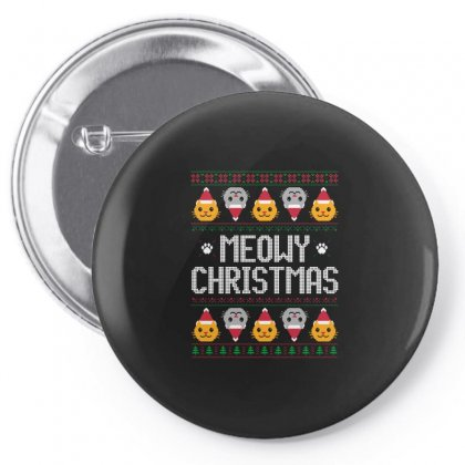 Meowy Christmas Pin-back Button Designed By Balqis Tees