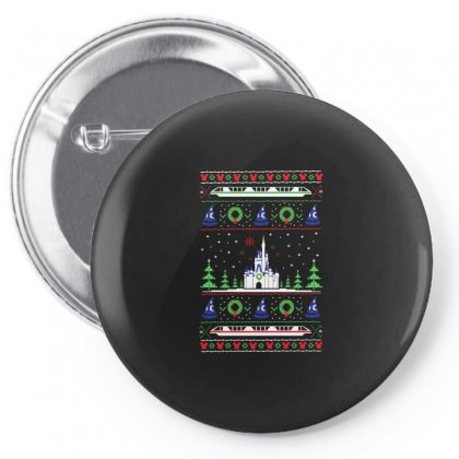 Magical Kingdom Christmas Sweater Pin-back Button Designed By Balqis Tees