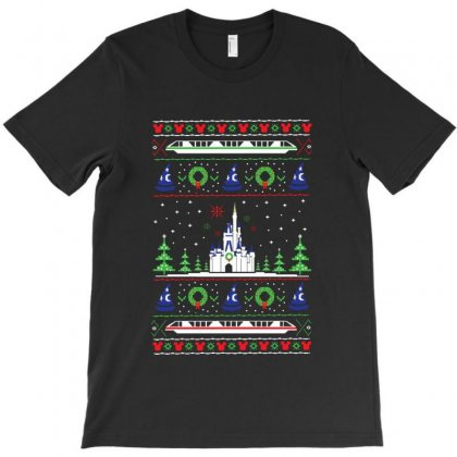 Magical Kingdom Christmas Sweater T-shirt Designed By Balqis Tees