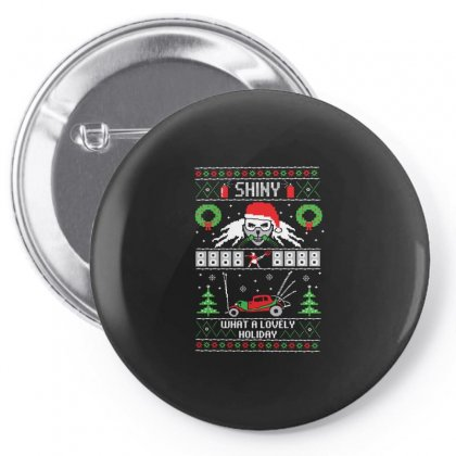 Mad Max Ugly Xmas Sweater Pin-back Button Designed By Balqis Tees