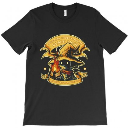 Strong Independent Black Mage T-shirt Designed By Balqis Tees