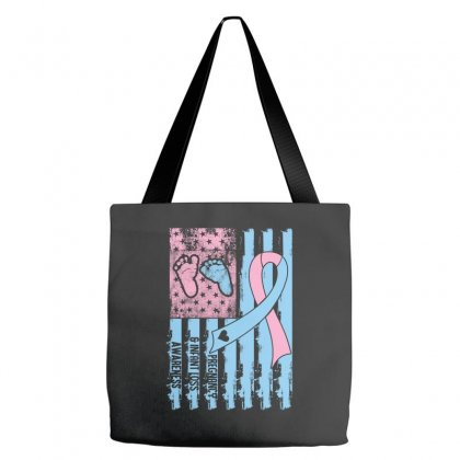 Pregnancy And Infant Loss Awareness American Flag Tote Bags Designed By Sengul