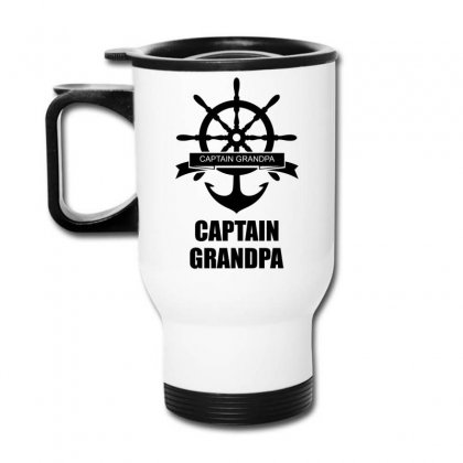 Captain Grandpa Travel Mug Designed By Sabriacar