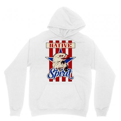 American Eagle Native Spirit Unisex Hoodie Designed By Artwoman