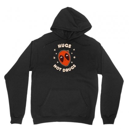 Hugs, Not Drugs New Unisex Hoodie Designed By Asep