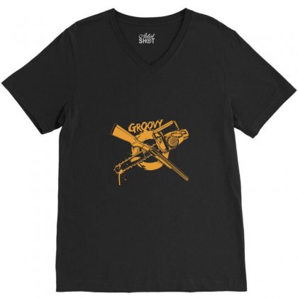 Groovy V-neck Tee Designed By Tee Shop