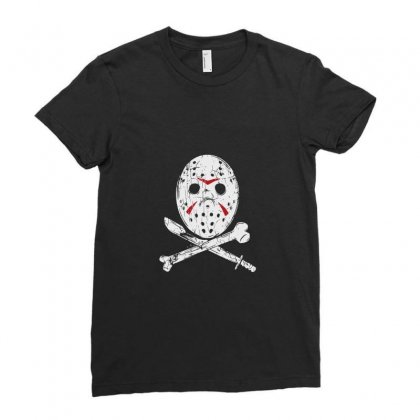 Hockey Mask Ladies Fitted T-shirt Designed By Tee Shop