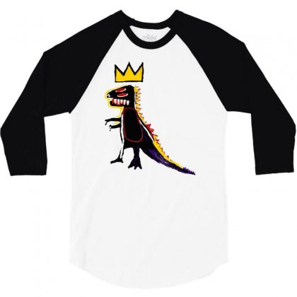 Basquiat Dinosaur 3/4 Sleeve Shirt Designed By Artwoman