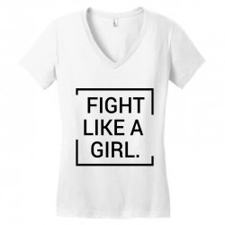 fight like a girl Women's V-Neck T-Shirt | Artistshot