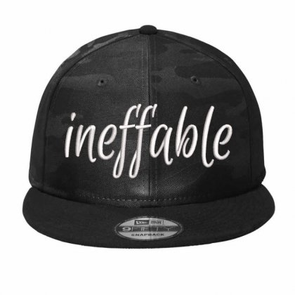 Ineffiable Embroidered Hat Camo Snapback Designed By Madhatter