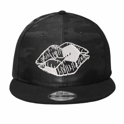 Lips  Embroidered Hat Camo Snapback Designed By Madhatter