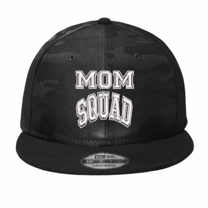 Mom Squad Embroidered Hat Camo Snapback Designed By Madhatter
