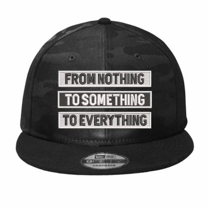 From Nothıng To Somethıng  Hat  Embroidered Camo Snapback Designed By Madhatter
