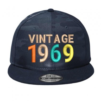 Vıntage 1969  Embroidered Trucker Cap Camo Snapback Designed By Madhatter