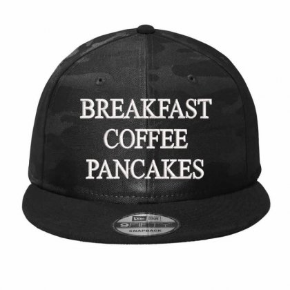Breakfast Coffee  Embroidered Camo Snapback Designed By Madhatter