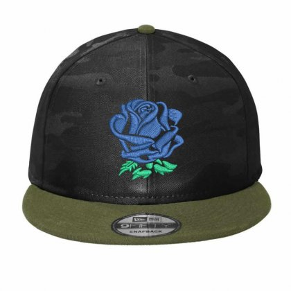 Rose  Flower Hat Embroidered Camo Snapback Designed By Madhatter