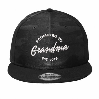 Promoted To Grandma Embroidered Camo Snapback Designed By Madhatter