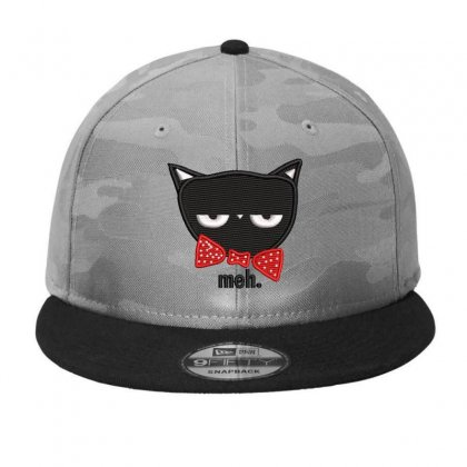 Black Cat Embroidered Camo Snapback Designed By Madhatter